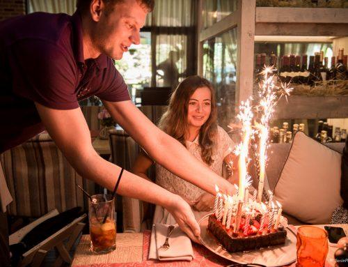 День рождения в кафе Флорентини.