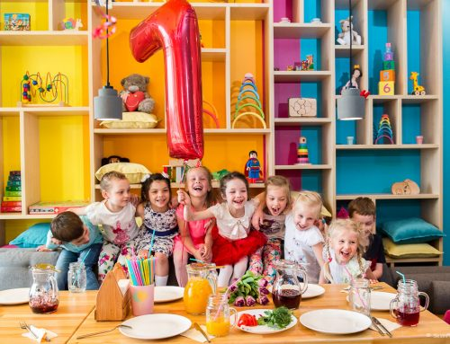 Birthday party in a kids caffe