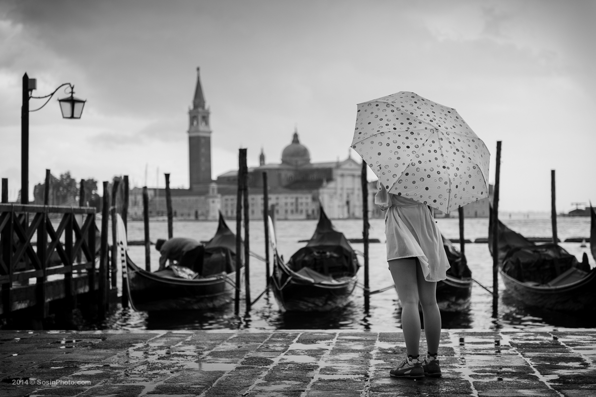 Venice. Raining photoset for a girl.