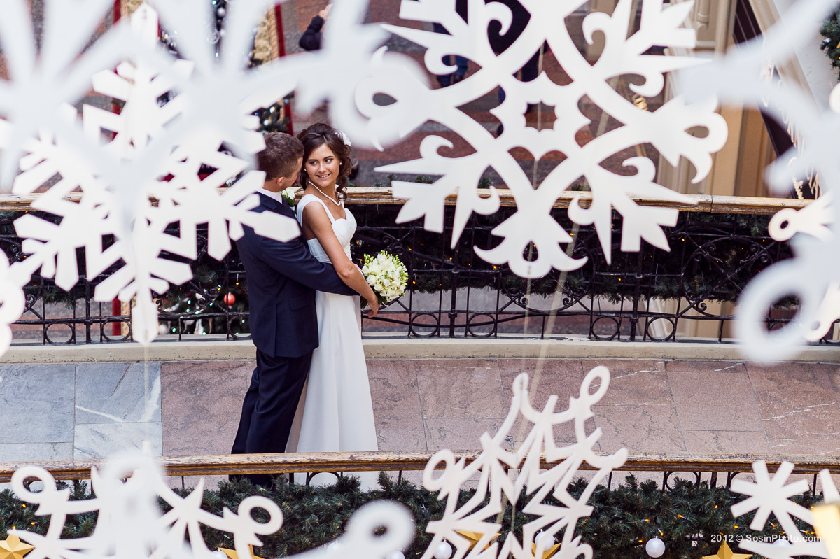 Жених и невеста ГУМ снежинки.